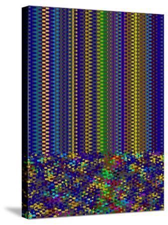 Blue Criss Cross-Ruth Palmer-Stretched Canvas Print