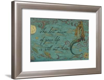 The Best Wave of Your Life Mermaid-sylvia pimental-Framed Art Print