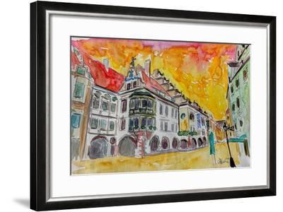Munich Hofbrauhaus Sunset Am Platzl-Markus Bleichner-Framed Art Print