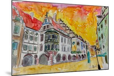 Munich Hofbrauhaus Sunset Am Platzl-Markus Bleichner-Mounted Art Print