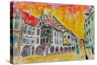 Munich Hofbrauhaus Sunset Am Platzl-Markus Bleichner-Stretched Canvas Print