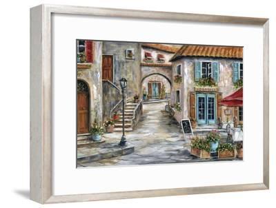 Tuscan St Scene-Marilyn Dunlap-Framed Art Print