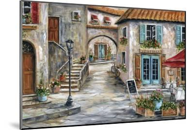Tuscan St Scene-Marilyn Dunlap-Mounted Art Print