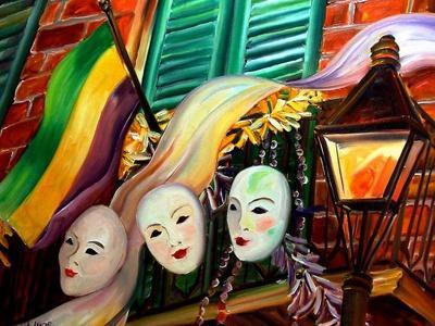 Mardi Gras Balcony-Diane Millsap-Framed Art Print
