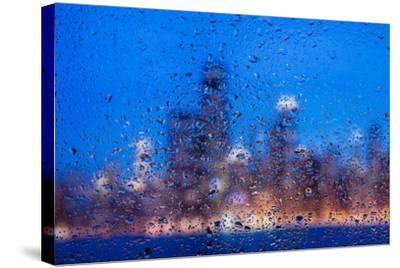 Rainy Chicago Lakefront Blues-Steve Gadomski-Stretched Canvas Print