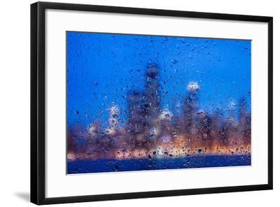 Rainy Chicago Lakefront Blues-Steve Gadomski-Framed Photographic Print