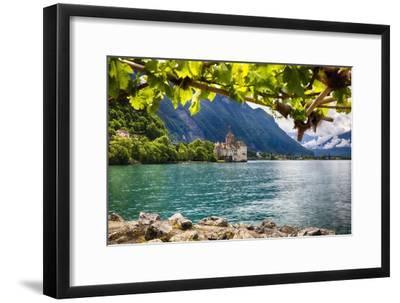 Castle View On Lake Geneva-George Oze-Framed Photographic Print