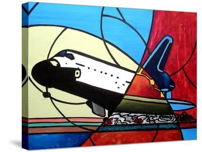 Space Shuttle Landing-Cindy Thornton-Stretched Canvas Print