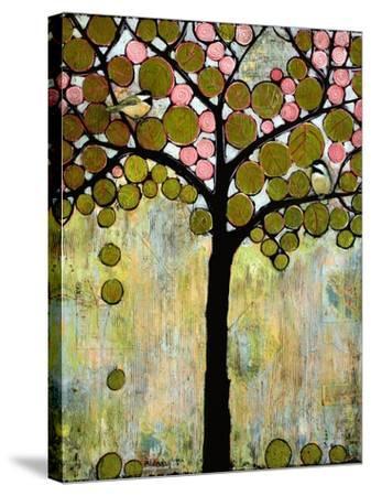 Print Art Chickadee Tree-Blenda Tyvoll-Stretched Canvas Print