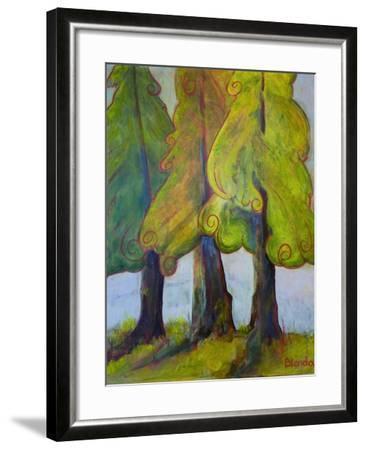 Print Art Trees At the Forests Edge-Blenda Tyvoll-Framed Art Print