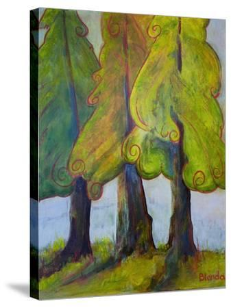 Print Art Trees At the Forests Edge-Blenda Tyvoll-Stretched Canvas Print