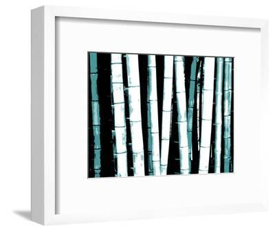 Enchanted Bamboo Teal-Herb Dickinson-Framed Art Print