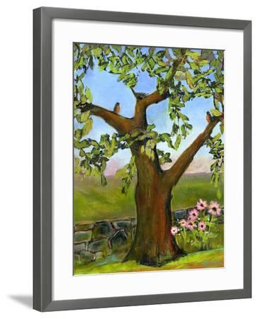 Robins Nest in a Tree-Blenda Tyvoll-Framed Art Print