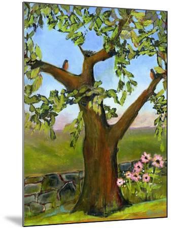 Robins Nest in a Tree-Blenda Tyvoll-Mounted Art Print