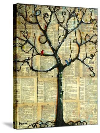 Print Tree of Life Mixed Media Painting-Blenda Tyvoll-Stretched Canvas Print