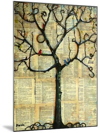 Print Tree of Life Mixed Media Painting-Blenda Tyvoll-Mounted Art Print