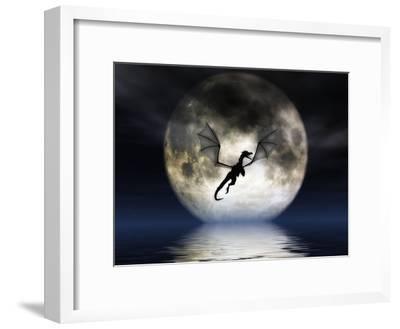 Dragon Moon-Julie Fain-Framed Art Print