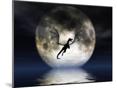 Dragon Moon-Julie Fain-Mounted Art Print
