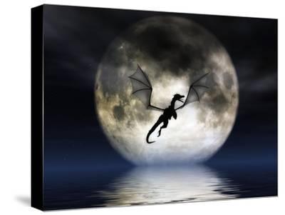 Dragon Moon-Julie Fain-Stretched Canvas Print