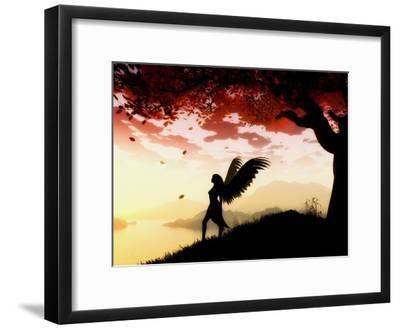 Angel at Dawn-Julie Fain-Framed Art Print