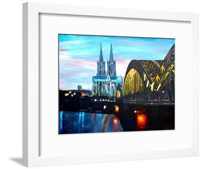 Cologne Cathedral with Hohenzollern Bridge-Markus Bleichner-Framed Art Print
