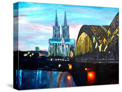 Cologne Cathedral with Hohenzollern Bridge-Markus Bleichner-Stretched Canvas Print