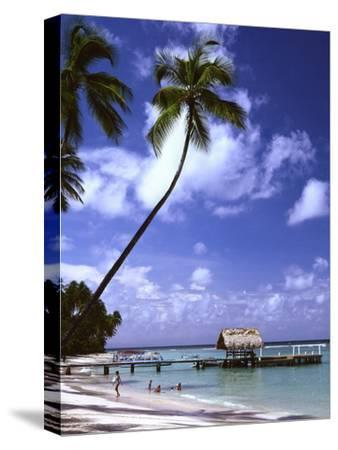 Pigeon Point beach Tobago-Charles Bowman-Stretched Canvas Print