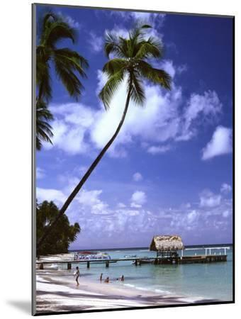 Pigeon Point beach Tobago-Charles Bowman-Mounted Photographic Print