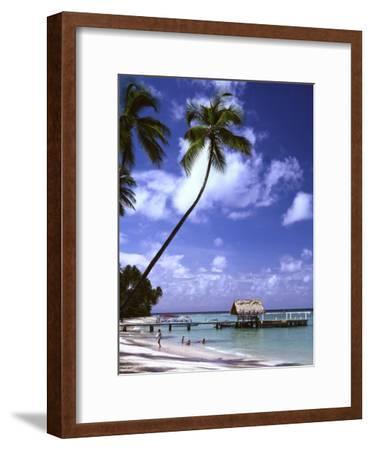 Pigeon Point beach Tobago-Charles Bowman-Framed Photographic Print
