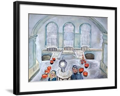 Scottie and Jack Grand Central Time-Zelda Fitzgerald-Framed Art Print