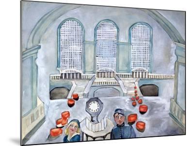 Scottie and Jack Grand Central Time-Zelda Fitzgerald-Mounted Art Print