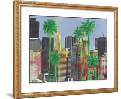 Palms in San Francisco-Jan Weiss-Framed Art Print