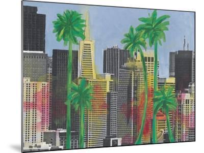 Palms in San Francisco-Jan Weiss-Mounted Art Print