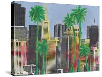 Palms in San Francisco-Jan Weiss-Stretched Canvas Print