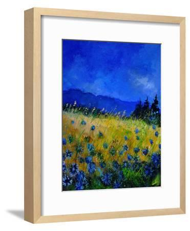 Blue Cornflowers 4550-Pol Ledent-Framed Art Print