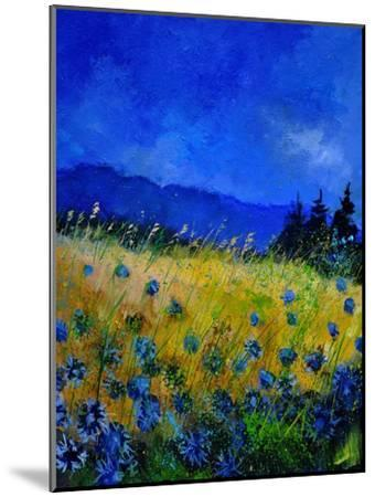Blue Cornflowers 4550-Pol Ledent-Mounted Art Print