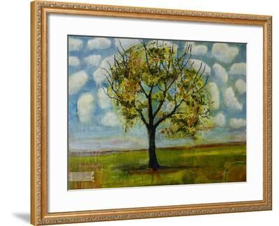 Botanical Print Patterned Sky Tree-Blenda Tyvoll-Framed Art Print