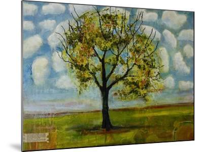 Botanical Print Patterned Sky Tree-Blenda Tyvoll-Mounted Art Print