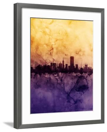 San Francisco City Skyline-Michael Tompsett-Framed Art Print