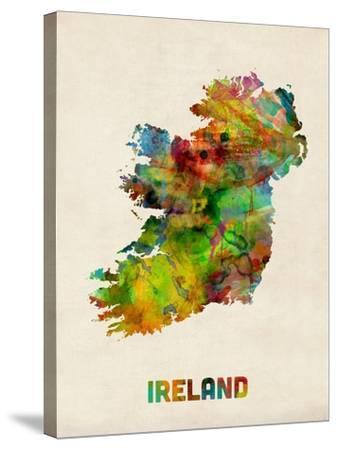 Ireland Eire Watercolor Map-Michael Tompsett-Stretched Canvas Print