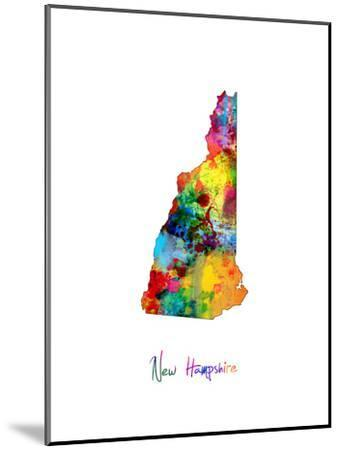 New Hampshire Map-Michael Tompsett-Mounted Art Print