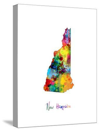New Hampshire Map-Michael Tompsett-Stretched Canvas Print