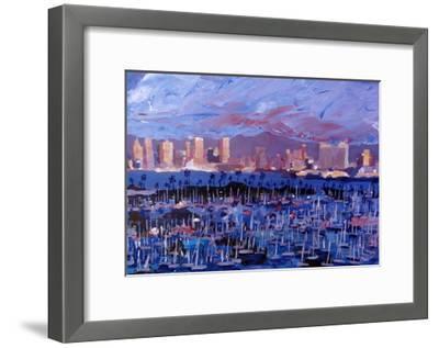 San Diego Skyline with Marina at Dusk-Markus Bleichner-Framed Art Print