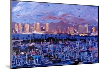 San Diego Skyline with Marina at Dusk-Markus Bleichner-Mounted Art Print