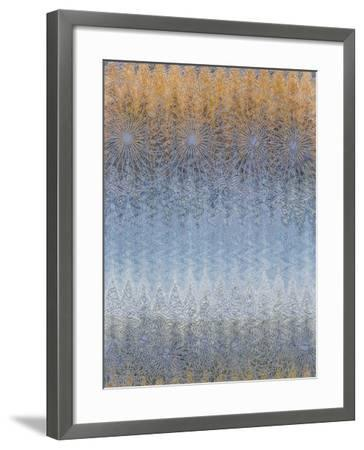 into the Blue-Ricki Mountain-Framed Art Print