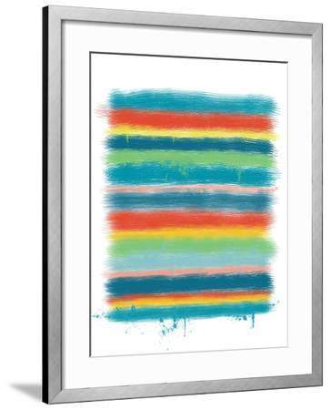 Stacked Colors One-Jan Weiss-Framed Art Print