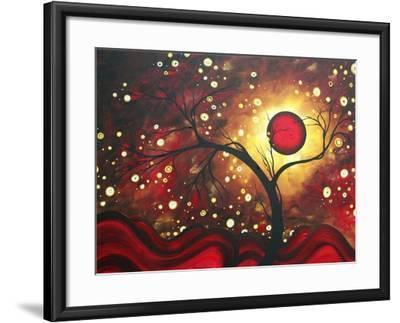 Abstract Landscape Glowing Orb-Megan Aroon Duncanson-Framed Art Print