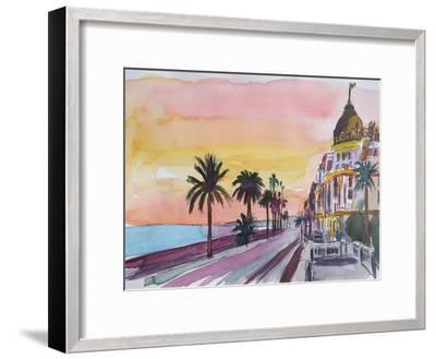 Nice France Seaview Boulevard at Sunset-Markus Bleichner-Framed Art Print