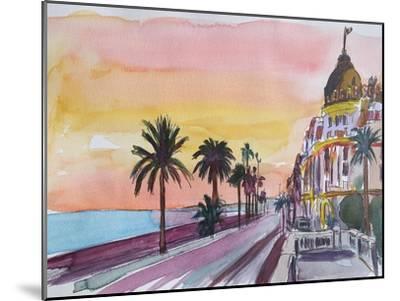 Nice France Seaview Boulevard at Sunset-Markus Bleichner-Mounted Art Print