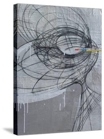 Silver Swirls 1-Enrico Varrasso-Stretched Canvas Print